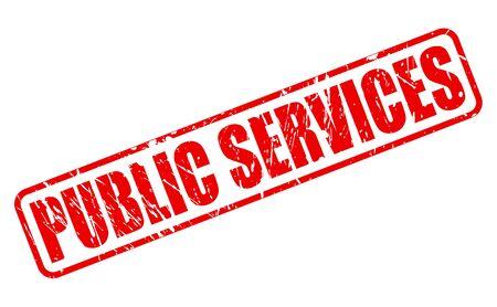 servicios publicos: SERVICIOS PÚBLICOS texto del sello rojo sobre blanco