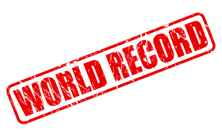 world record: WORLD RECORD red stamp text on white Stock Photo