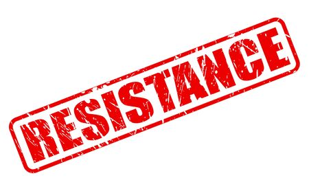 rebellious: RESISTANCE red stamp text on white Stock Photo
