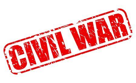 hostility: CIVIL WAR red stamp text on white