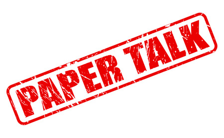 hoax: PAPER TALK red stamp text on white