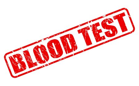 blood sugar count: BLOOD TEST red stamp text on white