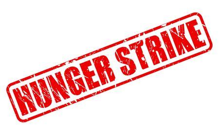 hunger: HUNGER STRIKE red stamp text on white Stock Photo