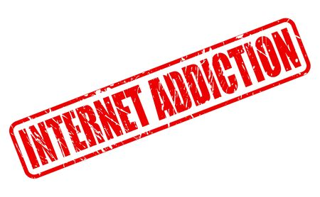 crave: INTERNET ADDICTION red stamp text on white