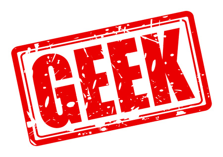 weirdo: GEEK red stamp text on white
