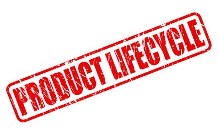 ciclo de vida: CICLO DE VIDA DEL PRODUCTO texto del sello rojo sobre blanco