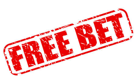 bet: FREE BET red stamp text on white Stock Photo