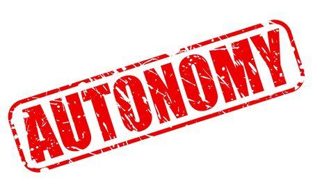 autonomia: AUTONOM�A texto del sello rojo sobre blanco