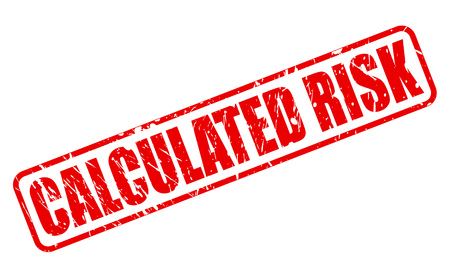 calculated: CALCULATED RISK red stamp text on white