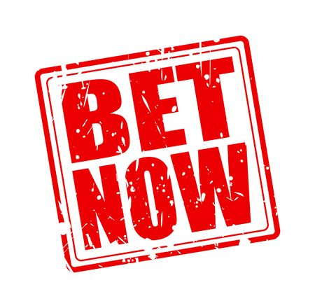longshot: Bet now red stamp text on white Stock Photo