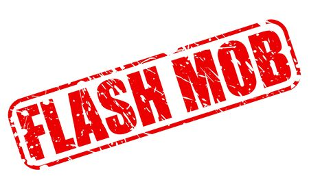 mob: FLASH MOB red stamp text on white Stock Photo