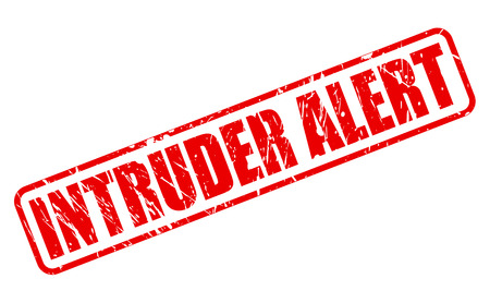 trespasser: INTRUDER ALERT red stamp text on white