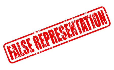 representation: FALSE REPRESENTATION red stamp text on white
