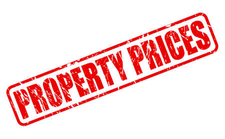 valuation: PROPERTY PRICES red stamp text on white