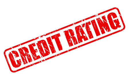 credit crunch: CREDIT RATING red stamp text on white