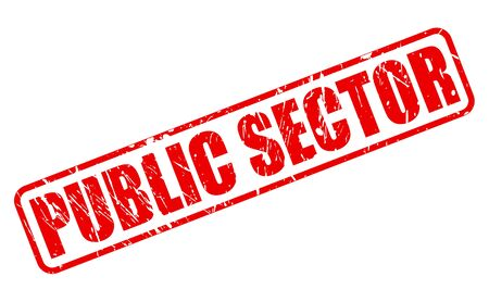 state owned: PUBLIC SECTOR red stamp text on white