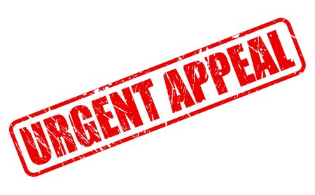 appeal: URGENT APPEAL red stamp text on white