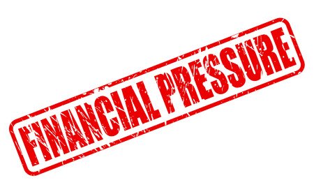 pressurized: FINANCIAL PRESSURE red stamp text on white Stock Photo