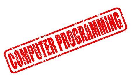 debugging: COMPUTER PROGRAMMING red stamp text on white