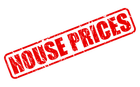 house prices: HOUSE PRICES red stamp text on white Stock Photo