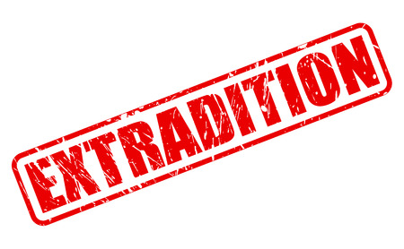 banish: EXTRADITION red stamp text on white
