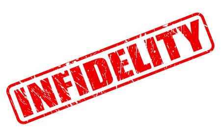 unfaithfulness: INFIDELITY red stamp text on white Stock Photo