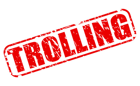 trolling: TROLLING red stamp text on white Stock Photo