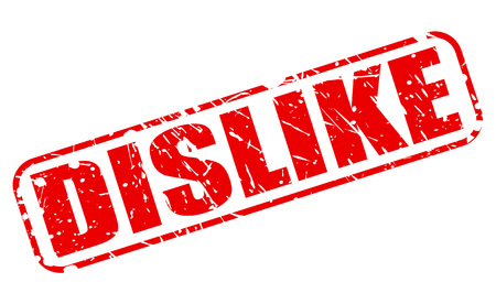 disapprove: DISLIKE red stamp text on white Stock Photo