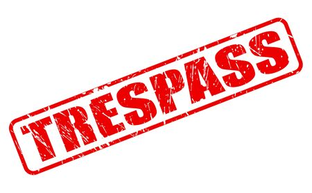 trespasser: TRESPASS red stamp text on white