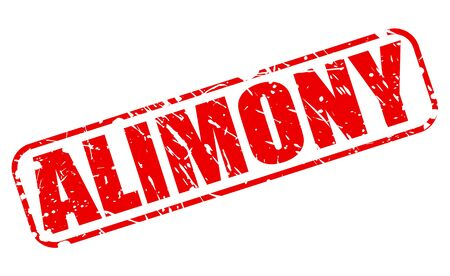 alimony: ALIMONY red stamp text on white