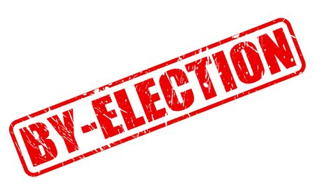 balloting: BY-ELECTION red stamp text on white
