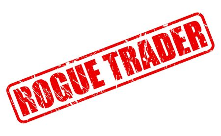 rogue: ROGUE TRADER red stamp text on white