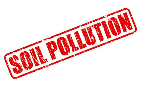spillage: SOIL POLLUTION red stamp text on white