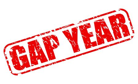 gap: GAP YEAR red stamp text on white Stock Photo