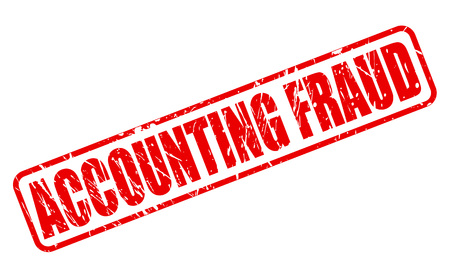 taxman: ACCOUNTING FRAUD red stamp text on white