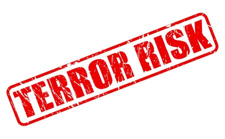 kidnapping: TERROR RISK red stamp text on white