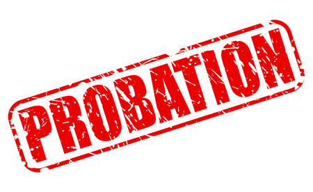 probation: PROBATION red stamp text on white