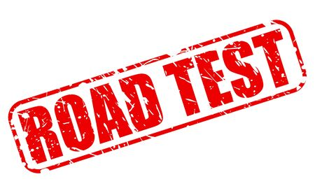 examiner: ROAD TEST red stamp text on white