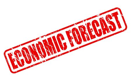 economic forecast: ECONOMIC FORECAST red stamp text on white Stock Photo