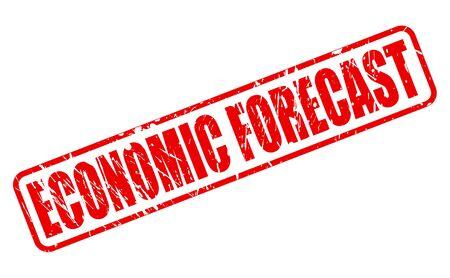 economic forecast: ECONOMIC FORECAST red stamp text on white Stock Photo