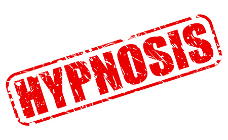 hypnotherapy: HYPNOSIS red stamp text on white Stock Photo