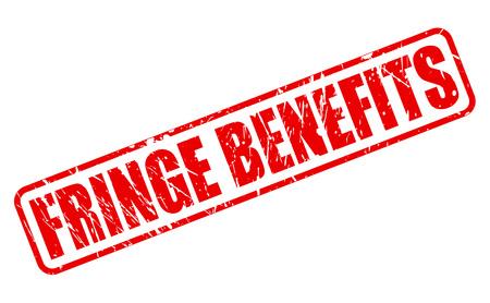 fringe: FRINGE BENEFITS red stamp text on white Stock Photo