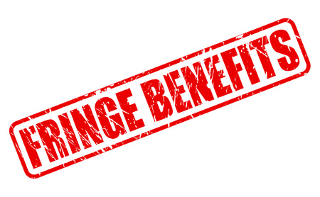 fringe benefit: FRINGE BENEFITS red stamp text on white Stock Photo