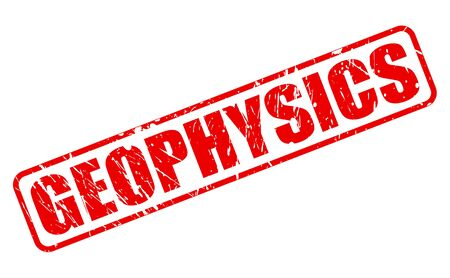 GEOPHYSICS red stamp text on white Stock Photo