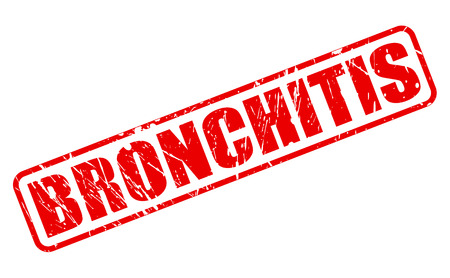 obstructive: BRONCHITIS red stamp text on white