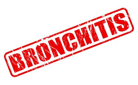 bronchitis: BRONCHITIS red stamp text on white