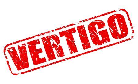 vertigo: VERTIGO red stamp text on white