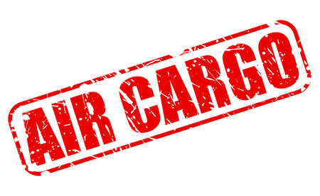 air cargo: AIR CARGO red stamp text on white