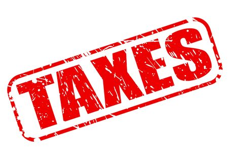 excise: TAXES red stamp text on white