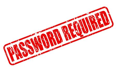 required: PASSWORD REQUIRED red stamp text on white